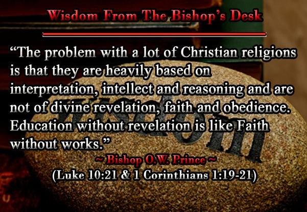 Wisdom  Problem with Religion